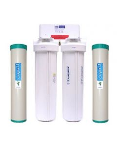 """HYDRO-SOFT™ Whole House Twin 20"""" X 4½"""" Water Softener System"""
